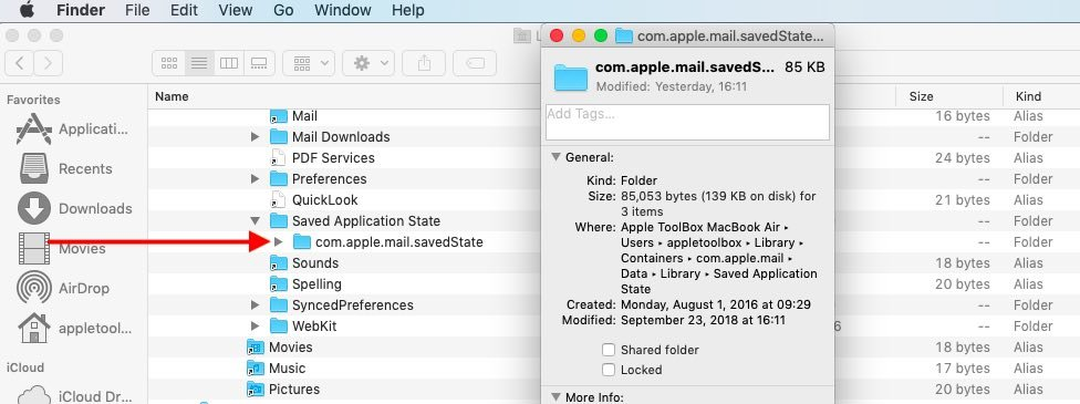mail app on mac not working